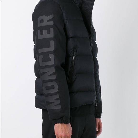 Moncler x Off White Bomber Jacket Black Boutique